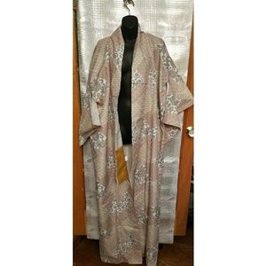 VINTAGE JAPANESE KIMONO 66IN RETRO